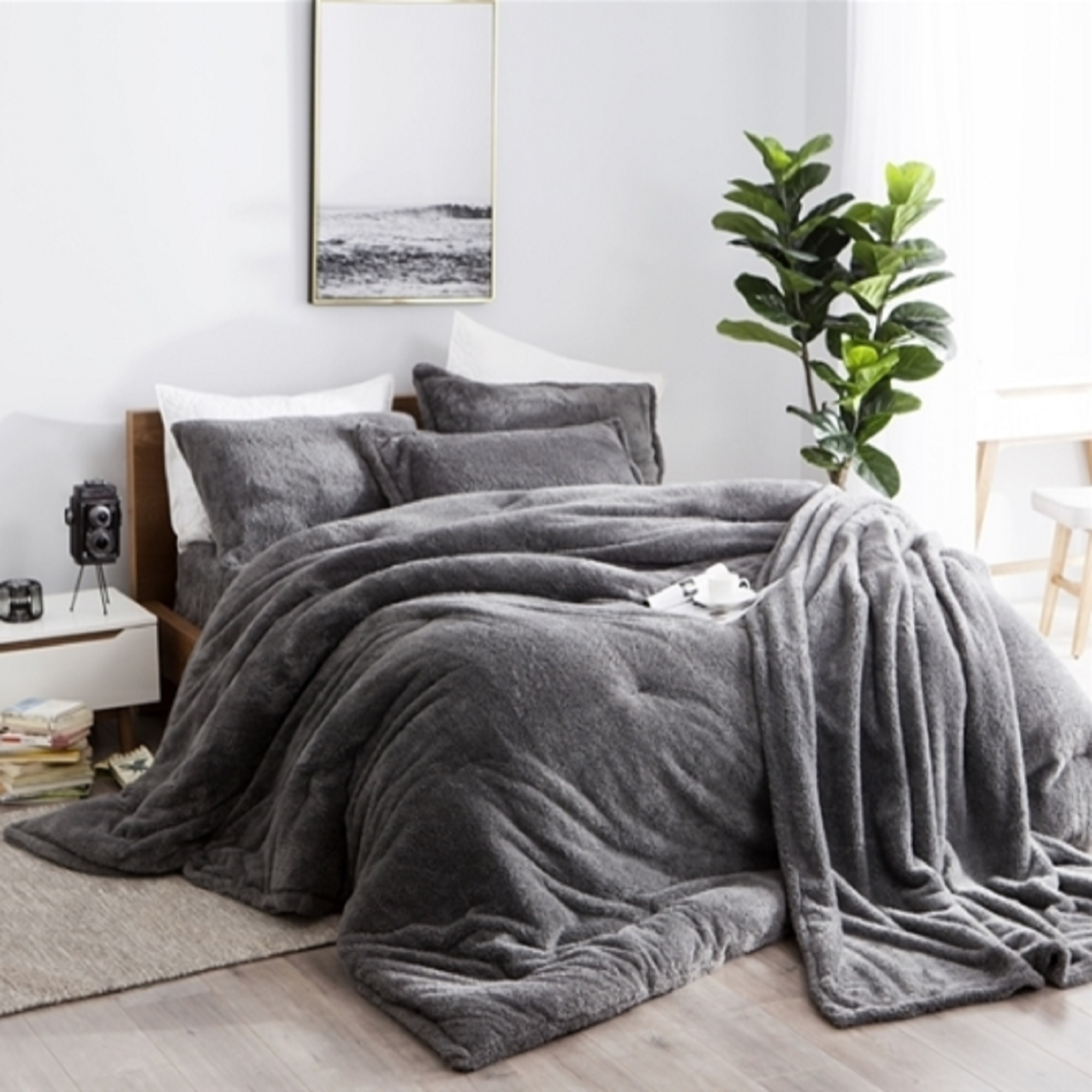 Coma Inducer® Comforter  - Charcoal - Oversized Bedding