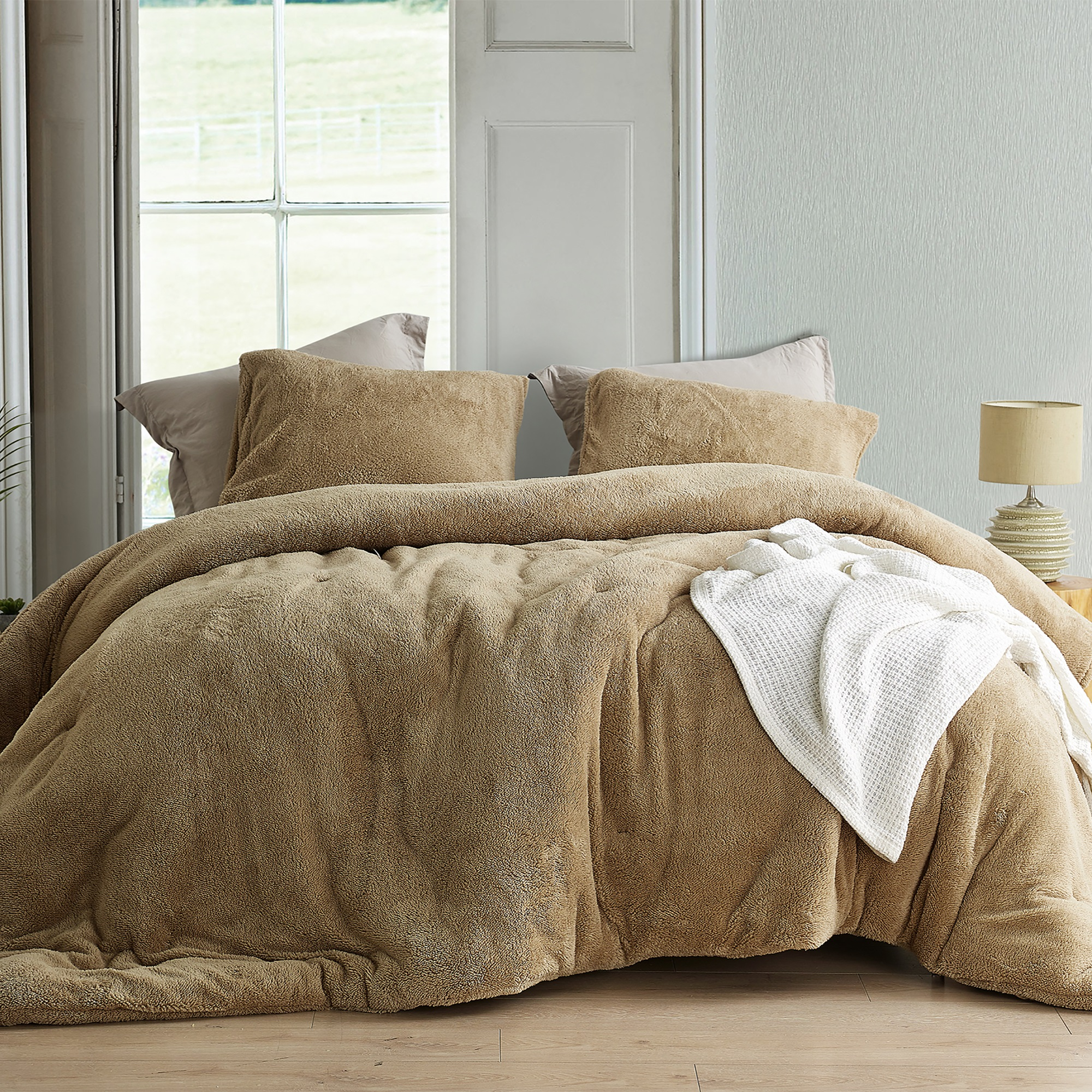 Coma Inducer® Oversized Comforter - Teddy Bear - Taupe Natural